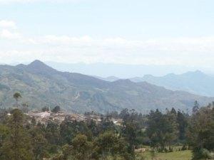 Panorámica de parroquia Chuquiribamba